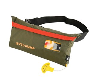 stearns 33 gram manual inflatable belt pack green