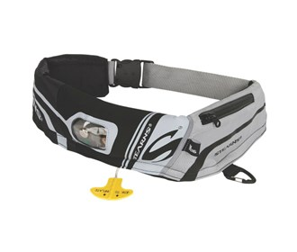 stearns 16m elite inflatable belt pack black/grey