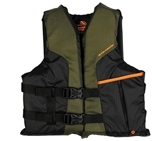 stearns sportsman green youth life vest