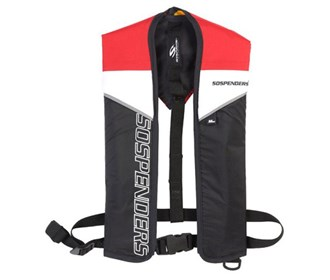 stearns sospenders inflatable life jacket red