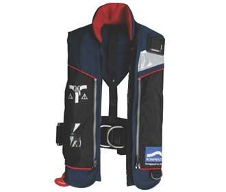 stearns 33g auto manual inflatable life jacket navy