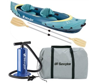 sevylor clear creek 2 person kayak combo