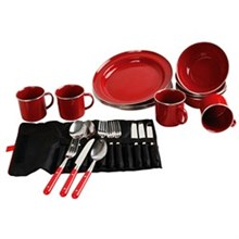 Coleman Kitchen Essentials coleman dishware rugged 24 pc family set