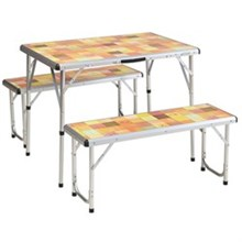 Coleman Tables coleman pack away outdoor picnic set for 4