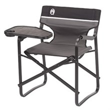 Coleman Chairs coleman aluminum deck chair with swivel table