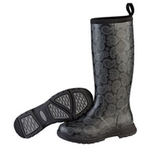 Muck Boots Womens Rain  breezy tall black bandana