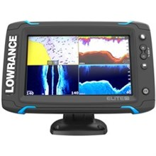 Lowrance Elite Series Fishfinders lowrance elite 7 ti touch combo w totalscan transom mount transducer and navionics plus chart