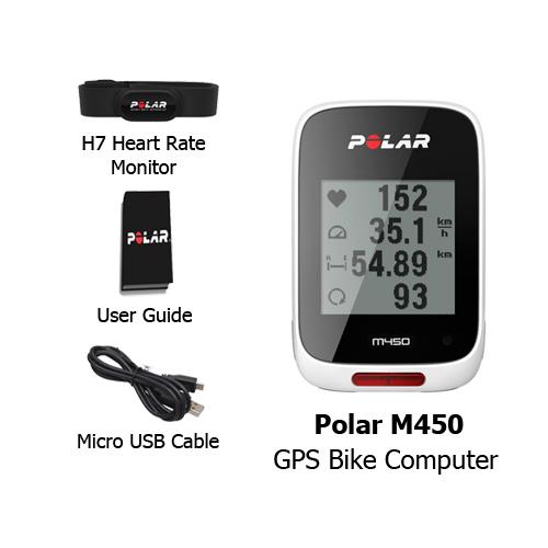 polar m450 gps bike computer white