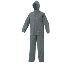 Coleman Apparel coleman women pvc poly suit gray