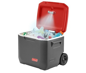 coleman cold glow cooler light gray