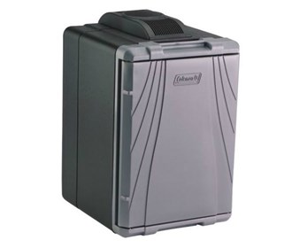 coleman 40 quart powerchill thermoelectric cooler gray