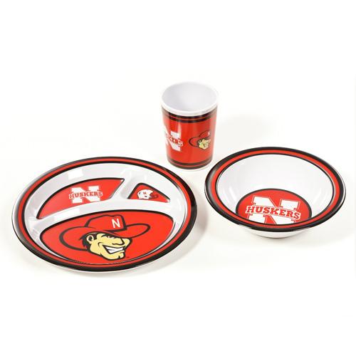 Bsi Products, Inc. Bsi Products Inc Nebraska Cornhuskers Kids 3 Pc. Dish Set Dish Set