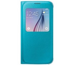 Blue Cases samsung s view flip cover for s6