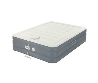 aerobed queen size adjustable antimicrobial bed with built in pump