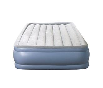beautyrest full size hi loft raised express air bed with hands free pump