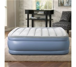 Simmons Air Mattresses  beautyrest queen size plushaire express air bed with hands free pump