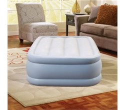 Beautyrest Air Mattresses beautyrest twin size plushaire express air bed with hands free pump