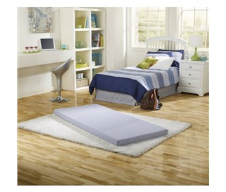simmons beautysleep twin size siesta memory foam guest bed