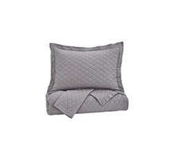 Bed Sheets ashley furniture alecio gray quilt set