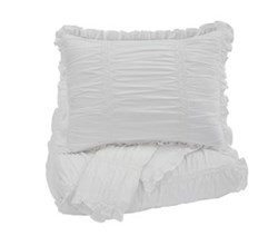 Beautyrest Duvet Sets in Full Size ashley furniture brently white duvet cover set