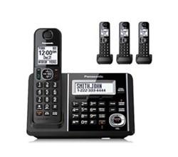 Panasonic 4 Handsets Cordless Phones panasonic kx tgf344b