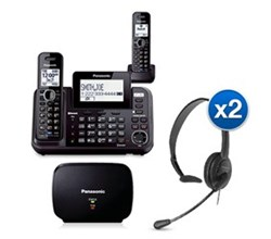 Panasonic 2 Line Cordless Phones KX TG9542B