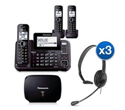 Panasonic Extended Range Cordless Phones KX TG9543B