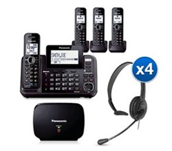Panasonic Extended Range Cordless Phones KX TG9544B