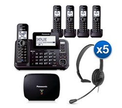 Panasonic Extended Range Cordless Phones KX TG9545B