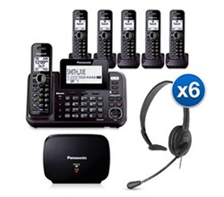 Panasonic 6 or More Handsets Cordless Phones KX TG9546B