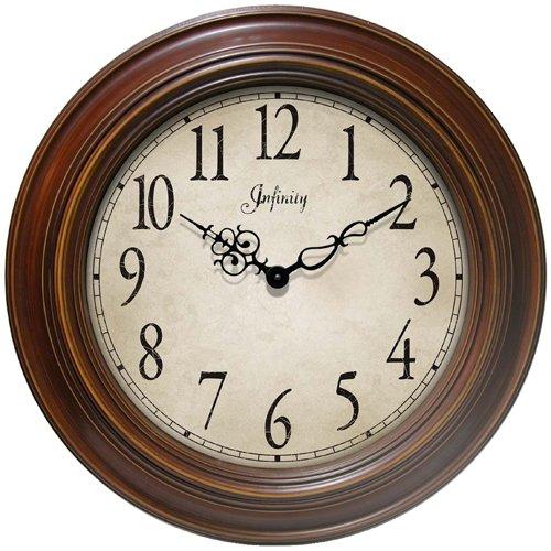 Infinity Instruments Atheneum Wall Clock - Walnut Wall Clock