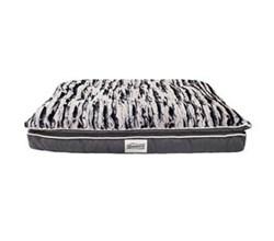Simmons Pet Beds  beautyrest luxe mat plus rectangle corduroy pewter pet bed