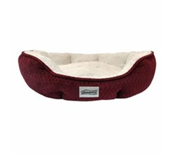 Simmons Pet Beds  beautyrest subtle seat diamond burgundy pet bed
