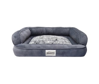 beautyrest colossal rest large corduroy silver pet bed
