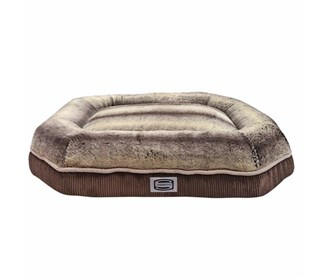 simmons comfort plus eight medium corduroy brown pet bed