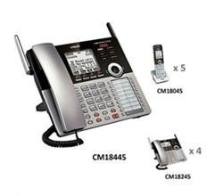 Analog Phone System Corded Bundles vtech cm18445 small business office bundle
