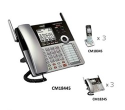 Analog Phone System Corded/Cordless Bundles vtech cm18445 small business office bundle