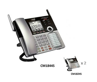 vtech cm18445 small business phone system starter bundle