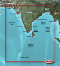 Garmin Asia BlueChart Water Maps garmin bluechart g2 haw003r indian subcontinent