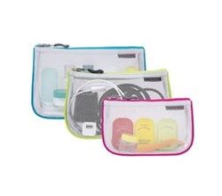 Travelon Packing Cubes travelon set of 3 assorted piped pouches