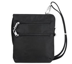 Travelon Classic Bags Travelon Anti Theft Classic Slim Double Zip Crossbody Bag