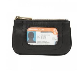 travelon rfid blocking leather id pouch
