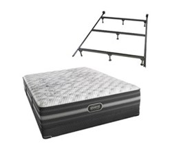 Simmons Beautyrest King Size Luxury Extra Firm Top Mattresses Calista King XF Low Pro Set with Frame N