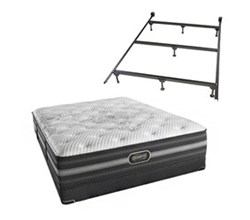 Simmons Twin Size Luxury Firm Comfort Mattresses Desiree TwinXL LF Low Pro Set with Frame N