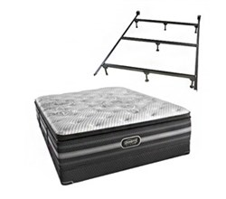 Simmons Queen Size Luxury Firm Pillow Top Comfort Mattresses simmons katarina queen lfpt low pro set with frame