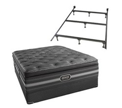 Simmons Beautyrest Queen Size Luxury Plush Pillow Top Comfort Mattress and Box Spring Sets With Frame simmons natasha