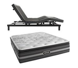 Simmons Beautyrest Twin Size Luxury Plush Comfort Mattress and Adjustable Bases Desiree TwinXL PL Mattress w Base N