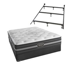 Simmons Beautyrest California King Size Luxury Plush Comfort Mattress and Box Spring Sets With Frame Desiree CalKing PL Std Set with Frame N