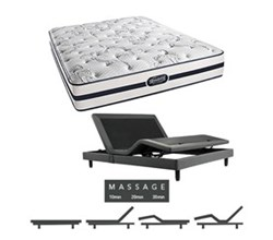 Simmons Queen Size Luxury Plush Comfort Mattresses N Plainfield Queen PL Mattress w Mass Base N