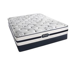 Simmons Beautyrest King Size Luxury Plush Comfort Mattress and Box Spring Sets N Plainfield King PL Low Pro Set N